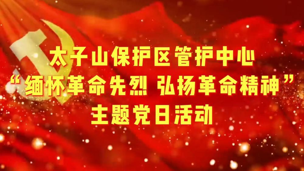 """太子山保护区管护中心""""缅怀革命先烈 弘扬革命精神""""主题党日活动"""