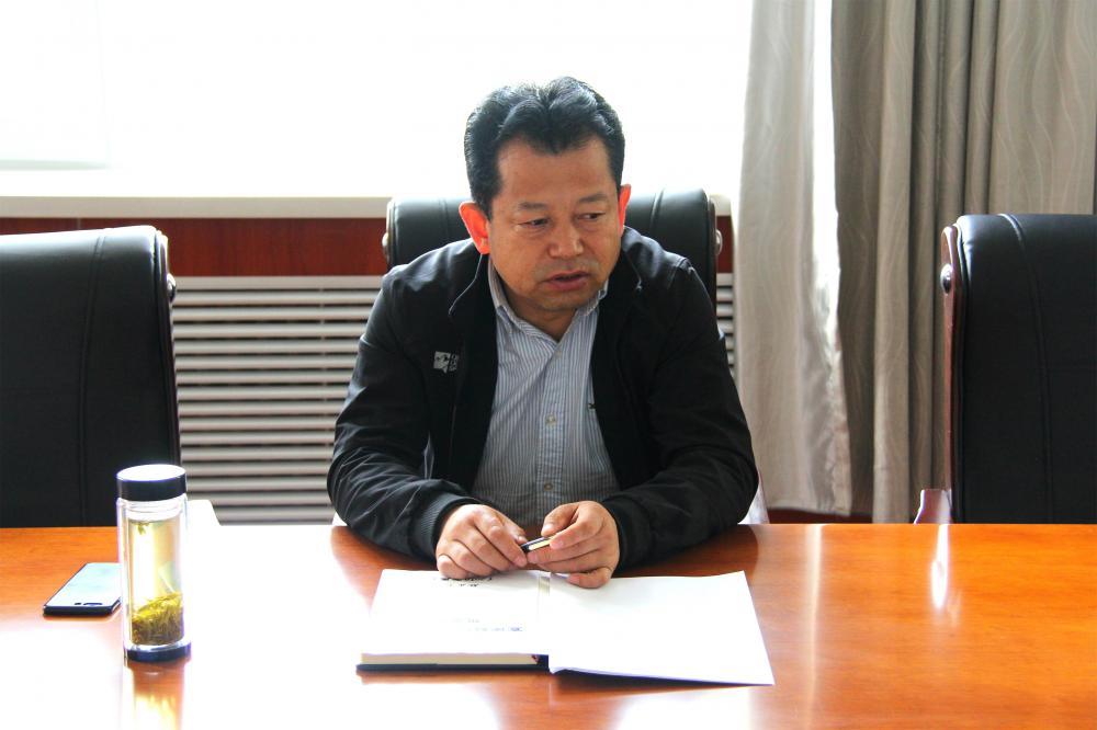 敏正龙局长在宣传科党支部作党史学习教育专题辅导