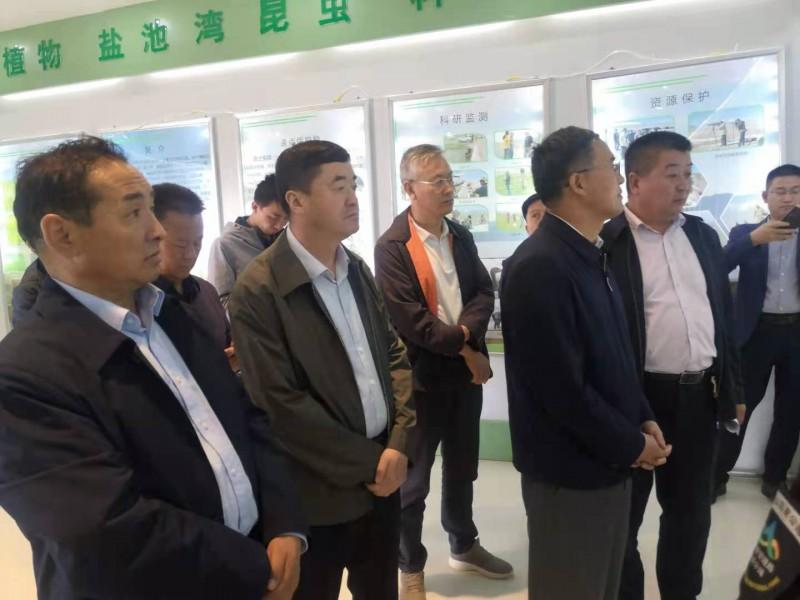 甘肃省政府党组成员、副省长刘长根 一行到盐池湾保护区检查…